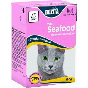Корм для кошек Bozita Mini Морской Коктейль, 190 г, курица, свинина, рыба