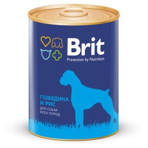 Корм для собак Brit Beef & Rice, 850 г, говядина и рис