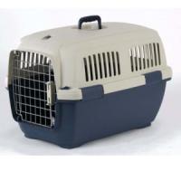 Фотография товара Переноска для собак и кошек Marchioro Clipper Cayman, размер 3, 2.6 кг, размер 64х43х43см., бежевый/синий