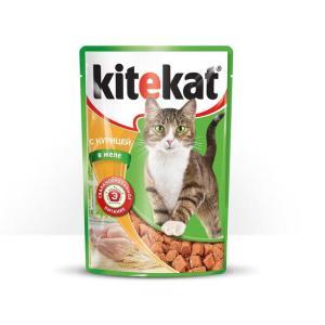 Корм для кошек Kitekat, 85 г, курица