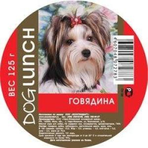 Консервы для собак Dog Lunch, 125 г, говядина