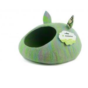 Домик для животных Zoobaloo Уютное гнездышко, размер 40х40х20см., мультиколор салатовый