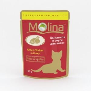 Корм для котят Molina, 100 г, цыпленок
