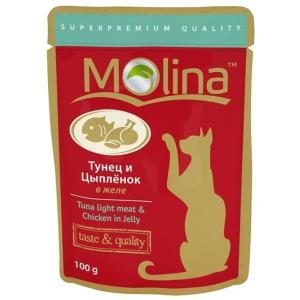 Корм для кошек Molina, 100 г, тунец и цыпленок