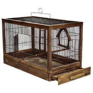 Клетка для птиц Дарэлл Ретро - Кантри, размер 71х33.5х51см., палисандр