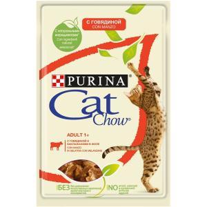 Корм для кошек Purina Cat Chow Adult, 85 г, говядина