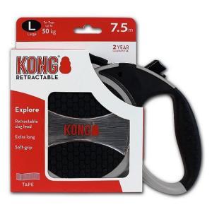 Поводок-рулетка для собак Kong EXPLORE L, серый
