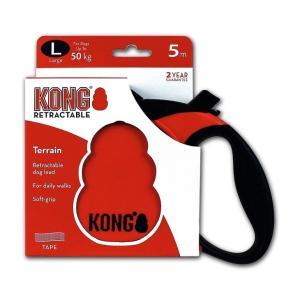 Поводок-рулетка для собак Kong TERRAIN L, красный