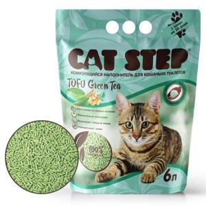 Наполнитель для кошачьих туалетов Cat Step Tofu Green Tea, 2.7 кг, 6 л