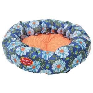 Лежак для собак Родные Места Ватрушка Ромашки, размер 50x50x15см.