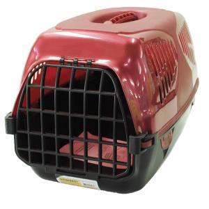Переноска для собак и кошек Homepet Путешественник, размер 50х33х35см., красный