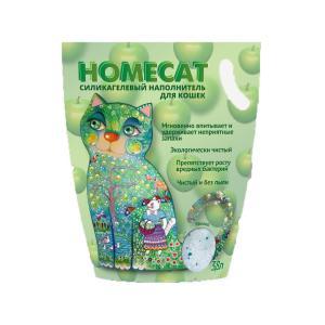 Наполнитель для кошачьих туалетов Homecat Зеленое яблоко, 3.5 кг