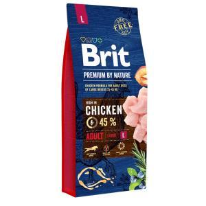 Корм для собак Brit Premium by Nature Adult L, 18 кг, курица