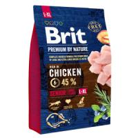Фотография товара Корм для собак Brit Premium by Nature Senior L/XL, 3 кг, курица