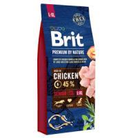 Фотография товара Корм для собак Brit Premium by Nature Senior L/XL, 15 кг, курица