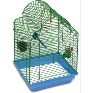 Клетка для птиц Зоомарк Купола, размер 35х28х52см., цвета в ассортименте