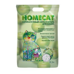 Наполнитель для кошачьего туалета Homecat Яблоко, 5.07 кг, 12.5 л