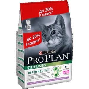 Корм для кошек Pro Plan Sterilised, 3 кг, индейка