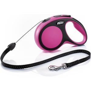 Поводок-рулетка для собак Flexi New Comfort S Cord, розовый