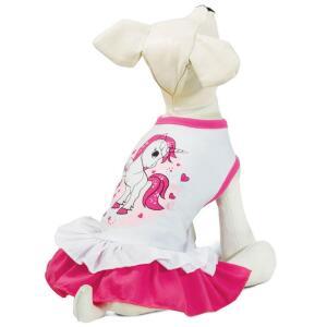 Платье для собак Triol Единорог XS, размер 20см.