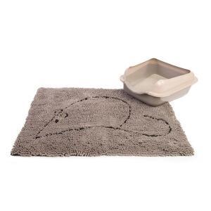 Коврик для кошачьего туалета Dog Gone Smart, размер 51x79см., серый