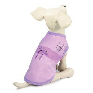 Платье-поло для собак Triol Ушки XS, размер 20см., бежево-серый
