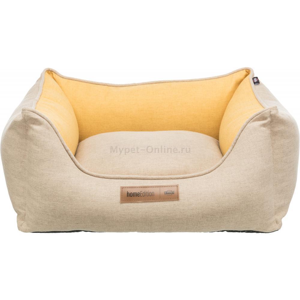 Лежак с бортиком для собак Trixie Lona, размер 60х50см., песочный желтый - Интернет зоомагазин MyPet-Online.ru
