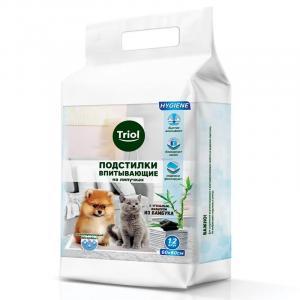Пеленки для собак Triol, размер 60x60см., 12 шт.