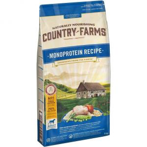 Корм для собак Country Farms Monoprotein, 11 кг, курица