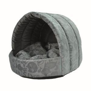 Домик для собак и кошек Homepet Велюр S, размер 38х35х27см., серый