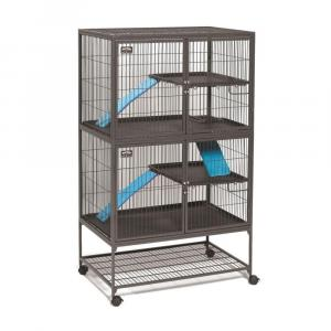 Клетка для хорьков Midwest Ferret Nation , размер 91.4х63.5х158.1см., черный