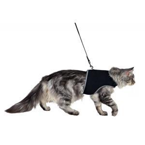 Шлейка для кошек Trixie Cat Soft Harness, размер 36х54см., чёрный