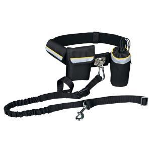 Ремень поясной с поводком Trixie Waist Belt with Leash, черный
