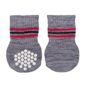 Носки для собак Trixie Dog Socks M, 2 шт., серый
