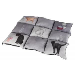Лежак для кошек Trixie Patchwork Cat, размер 45×55см., серый