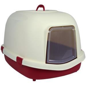 Закрытый туалет для кошек Trixie Primo, размер 71×56×47см., бордовый / кремовый