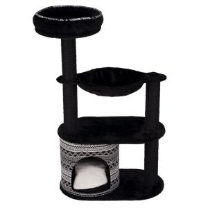 Домик-когтеточка для кошек Trixie Giada, размер 65х38х112см., черный / белый