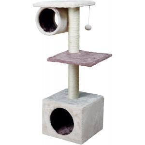Домик-когтеточка для кошек Trixie Sina, размер 36х36х106см., светло-серый