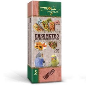 Корм для птиц Triol Original, фрукты, овощи, мед, хитин, злаки, семена