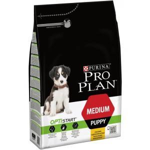 Корм для щенков Pro Plan Puppy Medium, 3 кг, курица с рисом