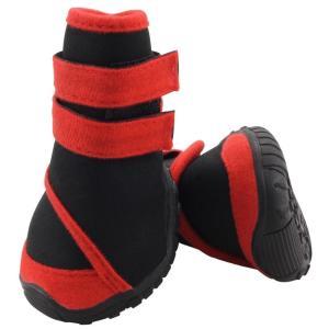 Ботинки для собак Triol YXS134-L L, размер 6.5х6х7.5см., черный / красный