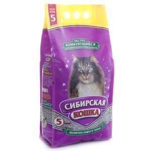 Наполнитель для кошачьего туалета Сибирская кошка Экстра, 3.1 кг, 5 л