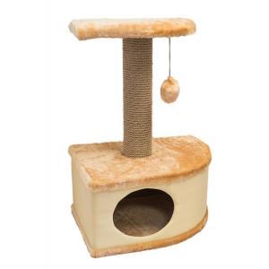 Домик-когтеточка для кошек Yami-Yami Конфетти, размер 49х37х70см., бежевый