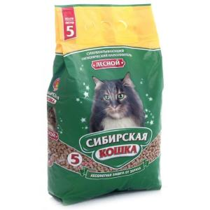 Наполнитель для кошачьего туалета Сибирская кошка Лесной, 3.1 кг, 5 л