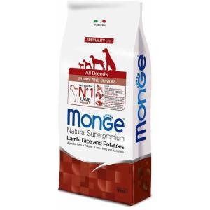 Корм для щенков Monge Speciality Dog Puppy and Junior, 12 кг, ягненок с рисом
