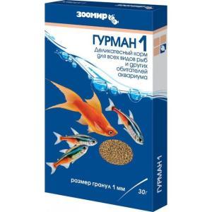 Корм для рыб Зоомир Гурман 1, 30 г