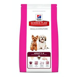 Корм для собак мелких пород Hill's SP Adult Small&Miniature, 6.5 кг, курица и индейка