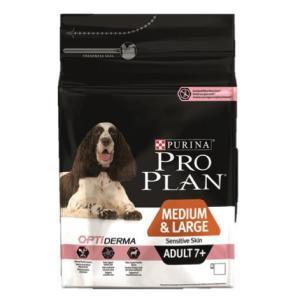 Корм для собак Pro Plan Adult 7+ Medium&Large Sensitive Skin, 3 кг, лосось