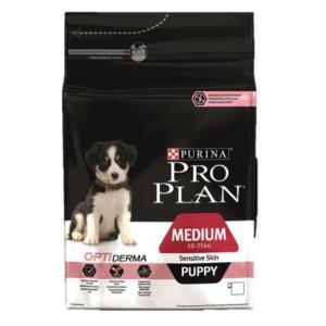 Корм для щенков Pro Plan Puppy Medium Sensitive Skin, 3 кг, лосось