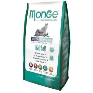 Корм для кошек Monge Cat Hairball, 1.5 кг, курица